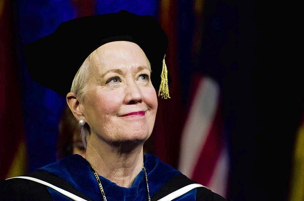 Towson University's President Maravene Loeschke, at her first graduation as president of the school, on Sunday, Jan. 8.