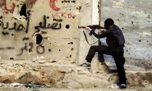 Fighting in the Qaban neighborhood of Syria