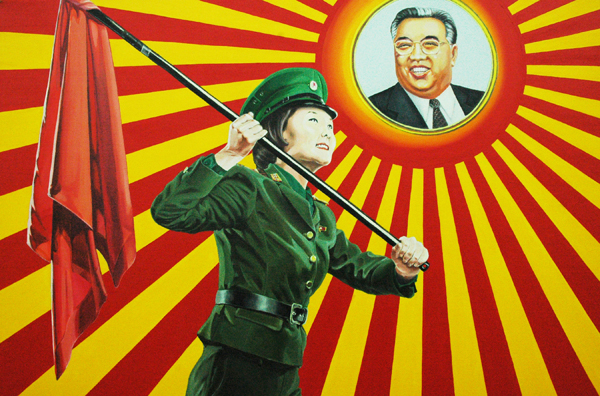 Kim-Il-Soon_In-Honor-of-The-Great-Leader-Father_acrylic-on-canvas_24x36in_2012_web