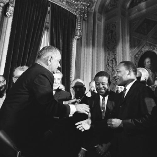Signing of the Voting Rights Act