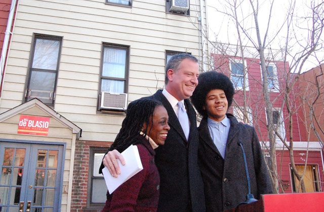 Bill DiBlasio and family