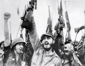epa01260186 (FILES) File photo dated 08 January 1959 of Fidel Castro (C) as he celebrates the victory of Cuban Revolutionary Movement over Fulgencio Batista's regime. Cuban President, Fidel Castro, announced on 19 February 2008 he renounced his presidency and military leadership of Cuba. European Commission has reiterated on Tuesday its offer of 'striking up a constructive political dialogue which is aimed at the Cuba's democratization.  EPA/- EDITORIAL USE ONLY