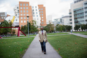 "Craig Wilder, author of the new book ""Ebony and Ivy: Race, Slavery and the Troubled History of American's Universities"" poses for a portrait on the Massachusetts Institute of Technology campus in Cambridge, Massachusetts on October 7, 2013."