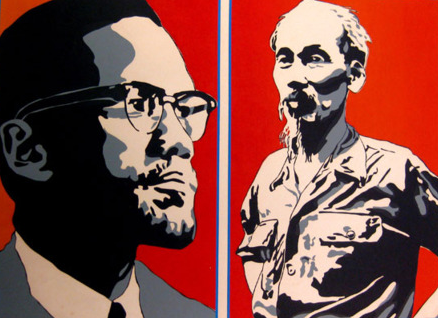 Malcolm X and Ho Chi Minh
