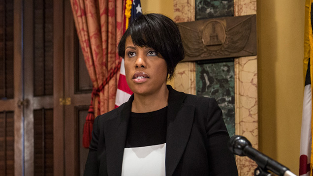 BALTIMORE, MD - MAY 01: Mayor Stephanie Rawlings-Blake of Baltimore speaks at a press conference after it was announced that charges will be filed against Baltimore police officers in the death of Freddie Gray on May 1, 2015 in Baltimore, Maryland. Gray died in police custody after being arrested on April 12, 2015. (Photo by Andrew Burton/Getty Images)