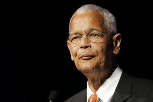**FILE** This July 8, 2007 file photo shows NAACP Chairman Julian Bond addressing the civil rights organization's annual convention in Detroit. Bond says he will not seek re-election as chairman, a post he has held since 1998. (AP Photo/Paul Sancya, file)
