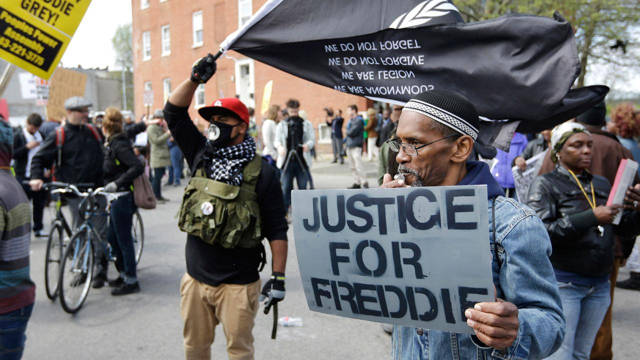 Freddie Gray Protest (Credit: ABC7 News)