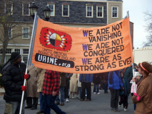 vNative American Protest (Credit: Arts And Justice)