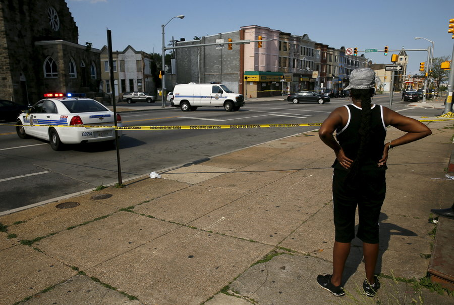 Baltimore Crime Scene (Credit: NPR)