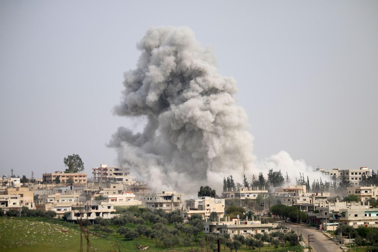 Syria Airstrike (Credit: The Washington Post)