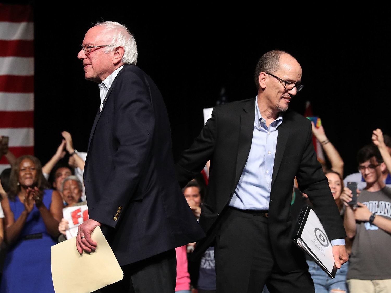 Bernie Sanders And Perez (Credit: NPR)